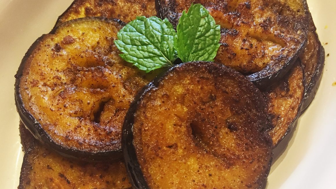 Spicy Fried Aubergines