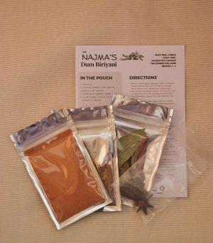 Najma's Dum Biriyani Pack Contents