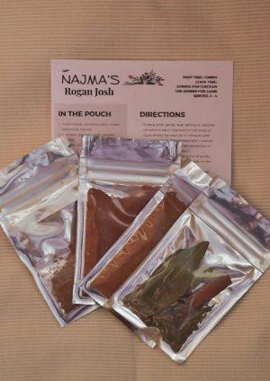 Najma's Rogan Josh Pack Contents