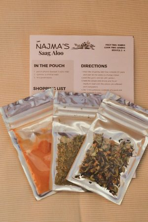 Najma's Saag Aloo Pack Contents