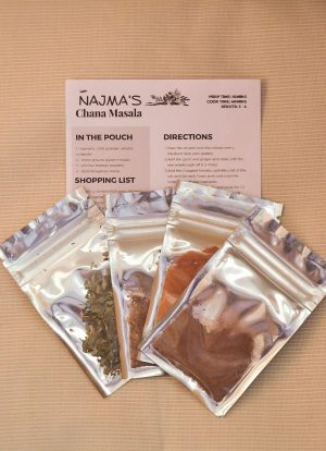 Najma's Chana Masala Pack Contents