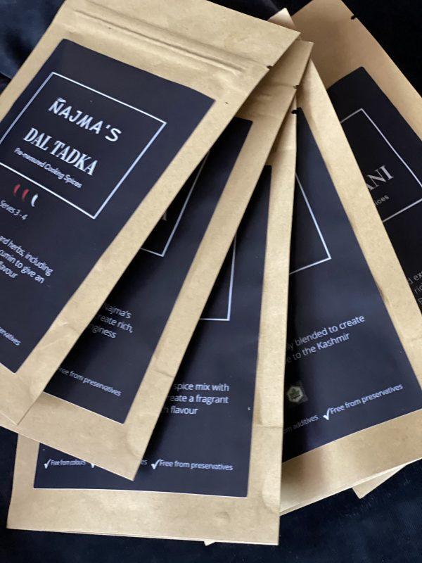 Najma's Custom Box of Five Pre-measured Spices